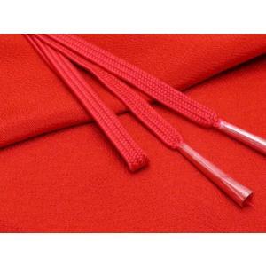 帯締め 帯揚げセット 絹紡平組の帯締めとちりめん生地の帯揚げセット 正絹「赤」HIBJset01|kyoto-muromachi-st