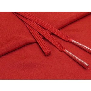 帯締め 帯揚げセット 絹紡平組の帯締めとちりめん生地の帯揚げセット 正絹「朱色」HIBJset02|kyoto-muromachi-st