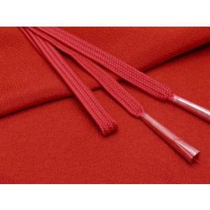 帯締め 帯揚げセット 絹紡平組の帯締めとちりめん生地の帯揚げセット 正絹「エンジ」HIBJset03|kyoto-muromachi-st