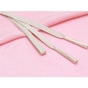 帯締め 帯揚げセット 絹紡平組の帯締めとちりめん生地の帯揚げセット 正絹「薄ピンク」HIBJset08|kyoto-muromachi-st