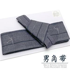 角帯 ワンタッチで結べるメンズ作り帯 綿麻 男帯「灰系」HTK728|kyoto-muromachi-st