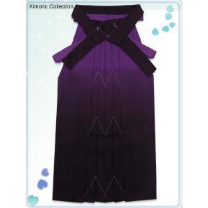 卒業式 袴 単品 小学校 ジュニアサイズのぼかし袴(135サイズ) 紫系 jgmm10|kyoto-muromachi-st