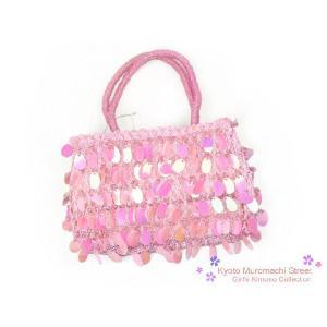 七五三衣装 ドレスに 子供用バッグ ピンク、スパンコール KKN471 kyoto-muromachi-st