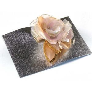 髪飾り 結婚式のお呼ばれ パーティーに控えめな色の花髪飾り「ベージュ系、薔薇」KMK884|kyoto-muromachi-st