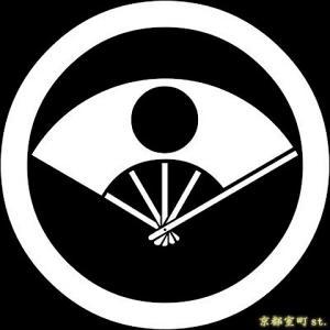 家紋シール 着物用 貼り付け家紋 6枚入り「丸に日の丸扇」 ネコポス可 KOM101 kyoto-muromachi-st