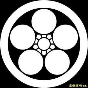 家紋シール 着物用 貼り付け家紋 6枚入り「丸に梅鉢」 ネコポス可 KOM102