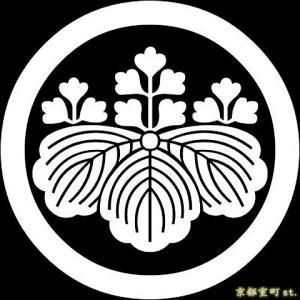 家紋シール 着物用 貼り付け家紋 6枚入り「丸に五三桐」 ネコポス可 KOM106