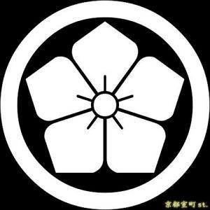家紋シール 着物用 貼り付け家紋 6枚入り「丸に桔梗」 ネコポス可 KOM107