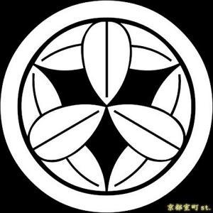 家紋シール 着物用 貼り付け家紋 6枚入り「丸に九枚笹」 ネコポス可 KOM109 kyoto-muromachi-st