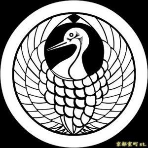 家紋シール 着物用 貼り付け家紋 6枚入り「丸に鶴の丸」 ネコポス可 KOM113 kyoto-muromachi-st