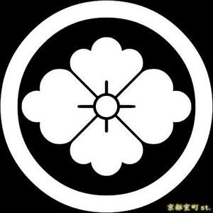 家紋シール 着物用 貼り付け家紋 6枚入り「丸に花菱」 ネコポス可 KOM116 kyoto-muromachi-st