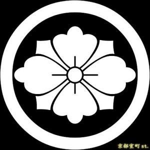 家紋シール 着物用 貼り付け家紋 6枚入り「丸に剣花菱」 ネコポス可 KOM117 kyoto-muromachi-st