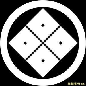 家紋シール 着物用 貼り付け家紋 6枚入り「丸に隅立四つ目」 ネコポス可 KOM125