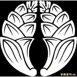 家紋シール 着物用 貼り付け家紋 6枚入り「抱茗荷」 ネコポス可 KOM196