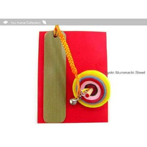京独楽(コマ) 匠の手作り・京こまの帯飾り 黄色 koma-Y|kyoto-muromachi-st