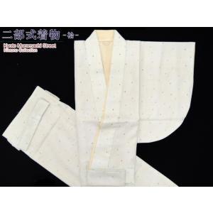 洗える二部式着物 小紋 袷 Lサイズ「薄い緑系・水玉」NBL1625|kyoto-muromachi-st
