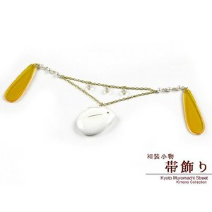 和装小物 着物・浴衣にチェーン帯飾り うさぎ、透明ビーズ OBK211|kyoto-muromachi-st