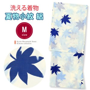 <訳あり>洗える着物 絽 小紋 夏物 着物 レディース Mサイズ「生成り 楓」ORM109b|kyoto-muromachi-st