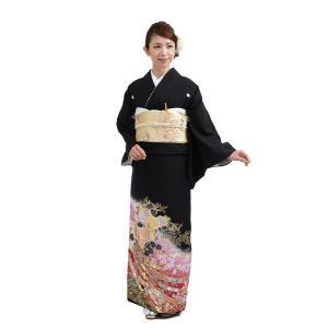 留袖レンタルQ3-50赤バラの園(黒留袖 レンタル)結婚式 ...