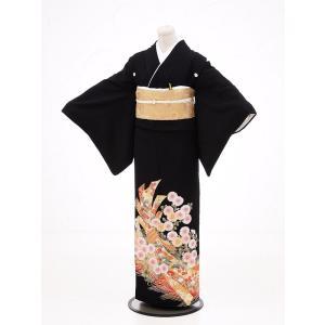 留袖レンタルQ4-67熨斗流れ菊(黒留袖 レンタル)結婚式 ...