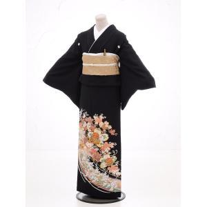 留袖レンタル4283花ざかり(黒留袖 レンタル)結婚式 留袖レンタル|黒留め袖