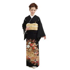 留袖レンタル4336(黒留袖 レンタル)結婚式 留袖レンタル...