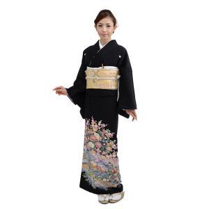 黒留袖レンタル4376(黒留袖 レンタル)結婚式 留袖レンタ...