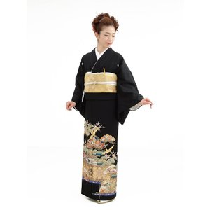 留袖レンタル5271山本寛斎祝宴(kansai留袖)(黒留袖...