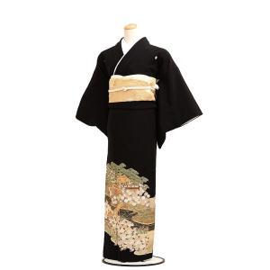 留袖レンタルQ6-50茶屋辻模様(黒留袖 レンタル)結婚式 ...