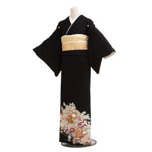 絽留袖レンタル6080紫波に菊夏物(黒留袖 レンタル)結婚式...