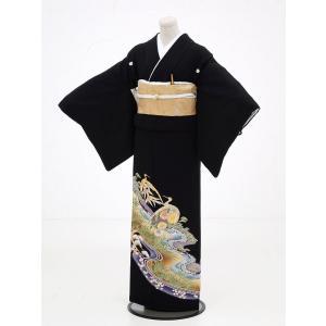 留袖レンタル6072鶴に松竹梅(黒留袖 レンタル)結婚式 留...