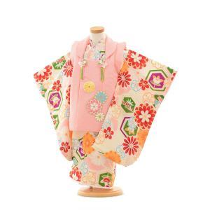 七五三 レンタル 着物(3歳女の子被布)3183ひいなピンク×クリーム