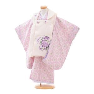 七五三 レンタル 着物(3歳女の子被布)3264JILLSTUARTスミレ刺繍