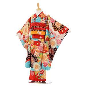 七五三着物レンタル(7歳女の子結び帯)7414 JAPAN STYLE 赤地菊