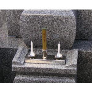 ステンレス製線香・ローソク立て お墓の前に置くだけですぐにご利用できます。 大きさ W180×D50...