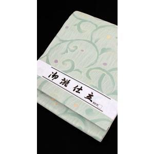 袋帯 西陣織 すぐ使える 仕立て上がり 紗 唐草模様 kyoto-wabitas