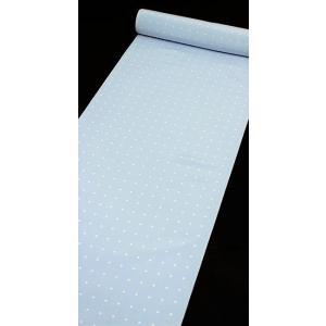 小紋 カジュアル 正絹反物 菱形 ドット ブルー kyoto-wabitas