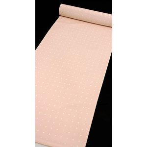 小紋 カジュアル 正絹反物 菱形 ドット ピンク kyoto-wabitas