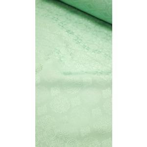 色無地 正絹反物 紋意匠 正倉院文様 100柄 白緑 八掛付|kyoto-wabitas