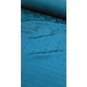 色無地 正絹反物 紋意匠 正倉院文様 88柄 錆納戸 八掛付|kyoto-wabitas