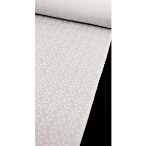 色無地 正絹反物 カジュアル 麻の葉切子 薄グレー|kyoto-wabitas