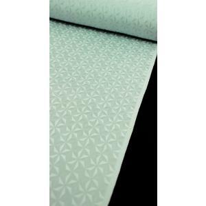 色無地 正絹反物 カジュアル 麻の葉切子 薄浅葱|kyoto-wabitas
