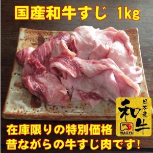 牛肉 訳あり 肉  国産 牛すじ 1kg 肉 訳あり 牛スジ kyoto1129