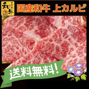 お中元 ギフト 牛肉 上 カルビ 300g 国産 和牛 焼き肉|kyoto1129