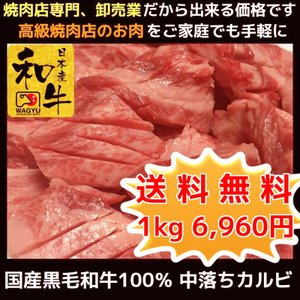 牛肉 肉 焼き肉 お歳暮 焼肉 焼き肉 国産 和牛 焼肉セット 中落ちカルビ 1kg 焼肉セット ギフト グルメ お取り寄せ|kyoto1129