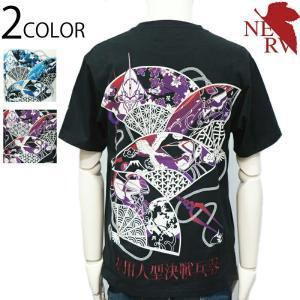 錦-nishiki-  エヴァンゲリオン  華鳥風月扇 和柄 半袖 Tシャツ  (529251)和柄...