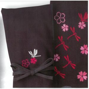 『寶船』やえ桜とトンボのコラボ刺繍【剣道具・寶船・刺繍ネーム】|kyotobudougu