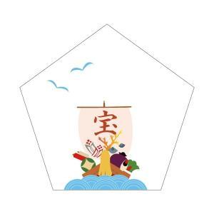 京都かみんぐオリジナル 手作り和雑貨 ■和紙一言箋/和柄 ■宝船/10枚入り ■素材:和紙 (大礼紙...