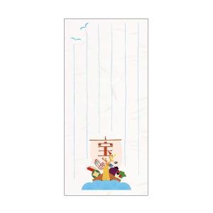 京都かみんぐオリジナル 手作り和雑貨 ■手づくり和紙一筆箋(便箋) ■宝船/6枚入り ■特大のぽち袋...