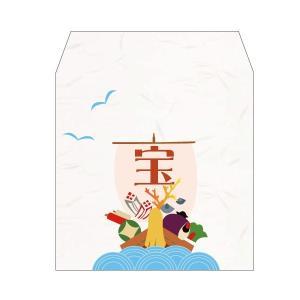 京都かみんぐオリジナル 手作り和雑貨 ■手づくり和紙製ぽち袋/和柄 ■宝船/小サイズ 5枚入り ■約...